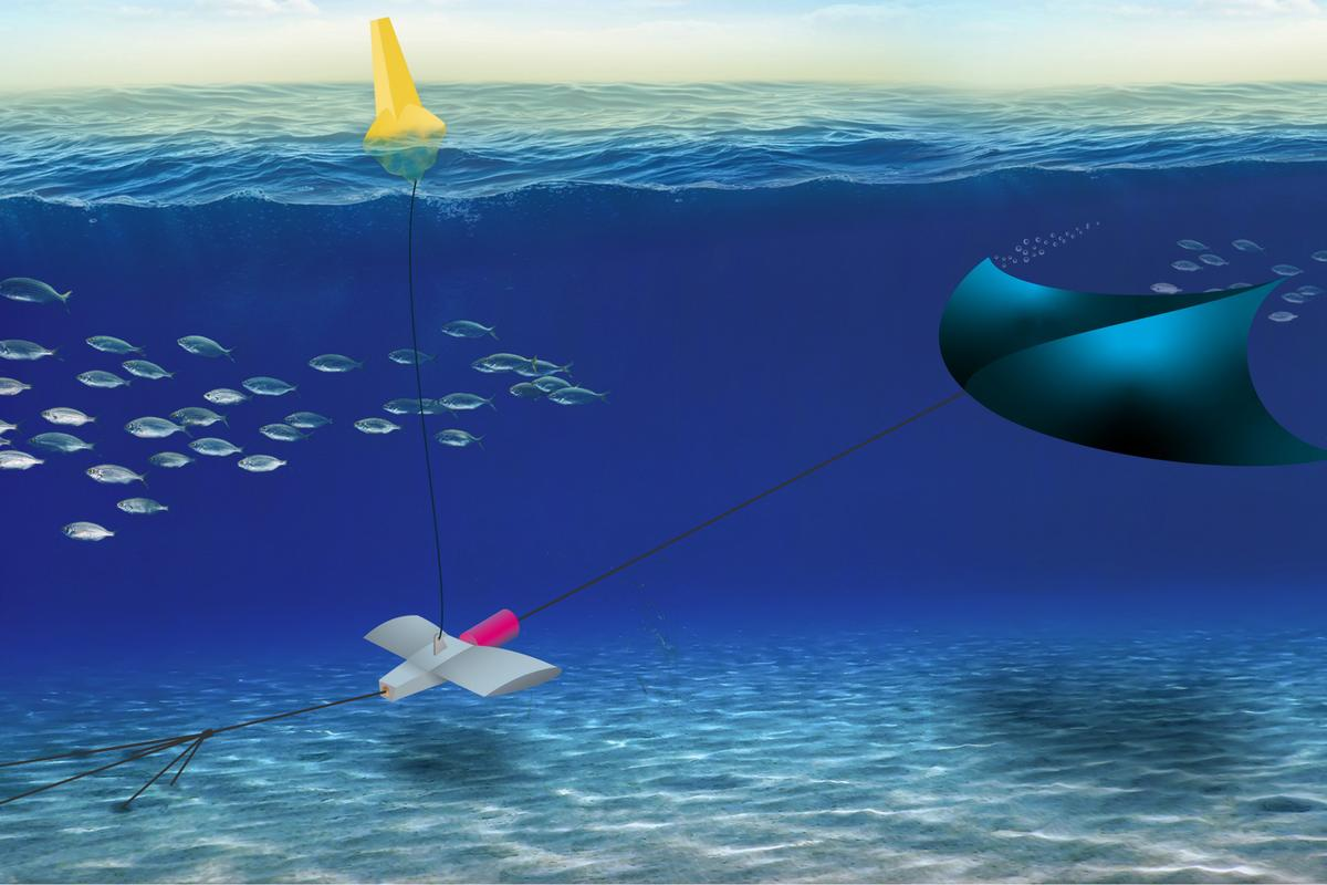 A conceptual design of the Manta system, which is somewhat different than the version described
