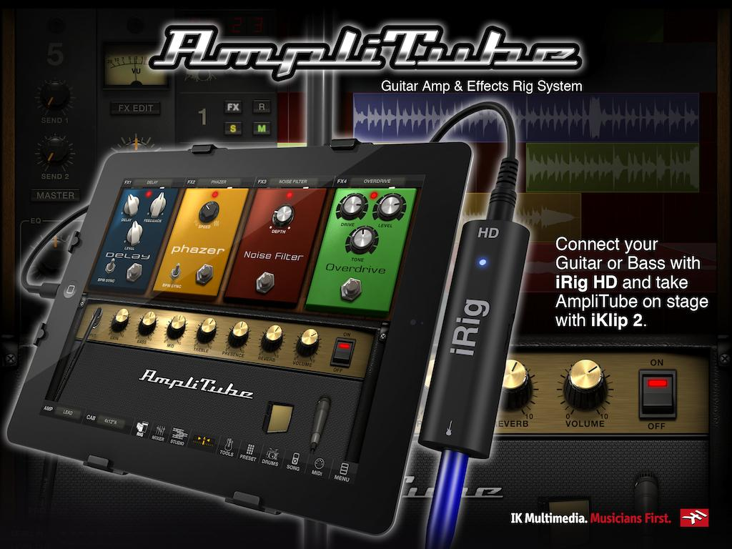iRig HD can convert an analog guitar signal to a digital signal at an audio bit depth rate of 24-bit, which is the standard for audio interface devices
