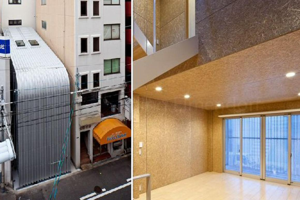 The imposing metal outer shell of the Rooftecture OT2 house in the heart of Osaka, Japan masks a spacious, light and airy family home within (Photo: Stirling Elmendorf)