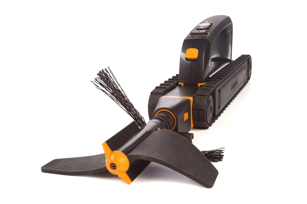 The Looj 330 sports new features and a more compact shape to help shift stubborn leaves and other blockages from gutters