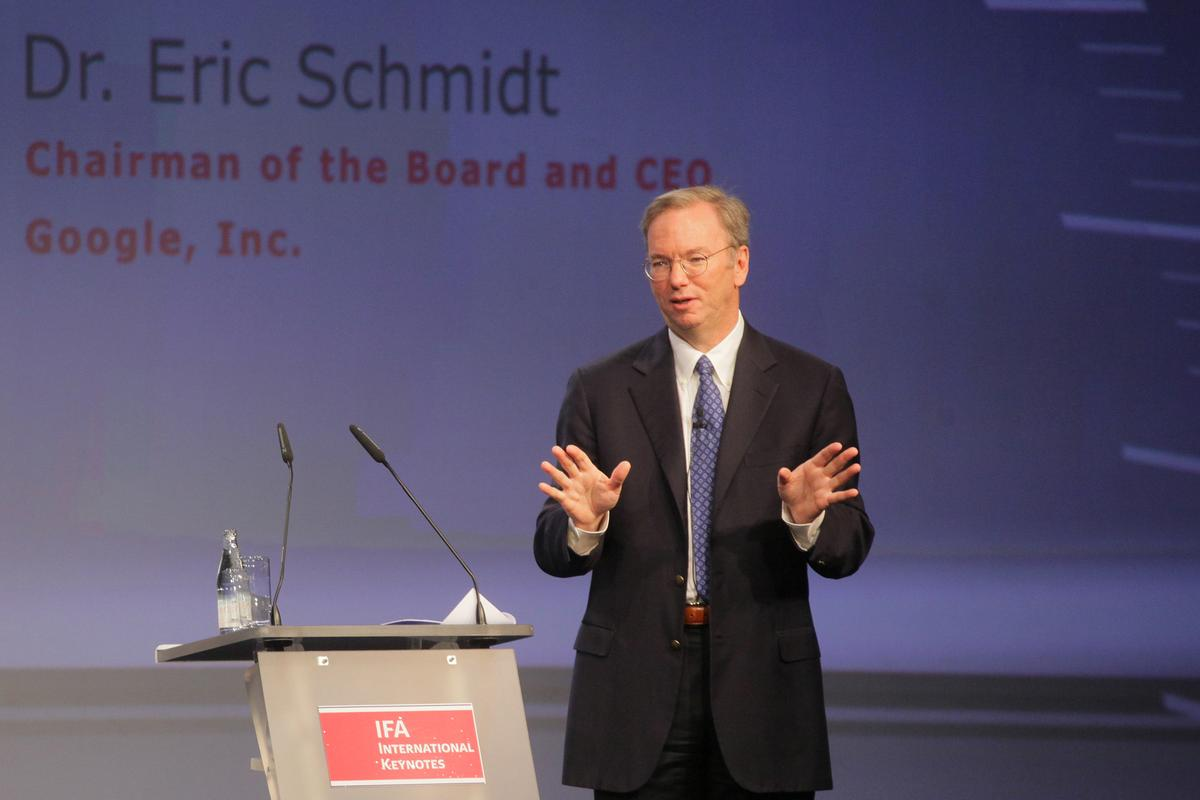Google CEO Eric Schmidt delivers closing international keynote at IFA 2010
