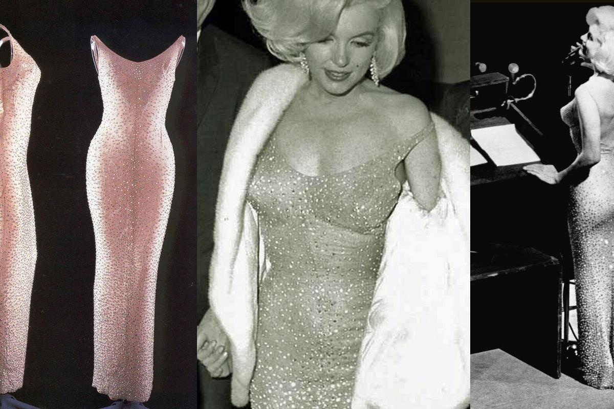Monroe told the event planners she would dress discreetly, rehearsed in casual clothes, and changed into the dress just prior to the performance, wearing a white fur coat until she was on stage to hide what she was really wearing – a sheer body-hugging dress without any lining, and heels.