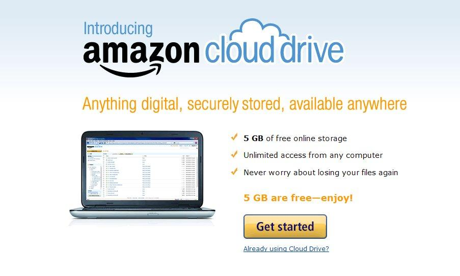 All Amazon customers start with 5GB of free storage, with more available via purchase plans