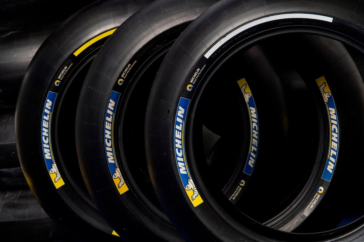 The new Michelin tires are allocated in three different compounds: yellow stripe denotes the hardest and white the softest option
