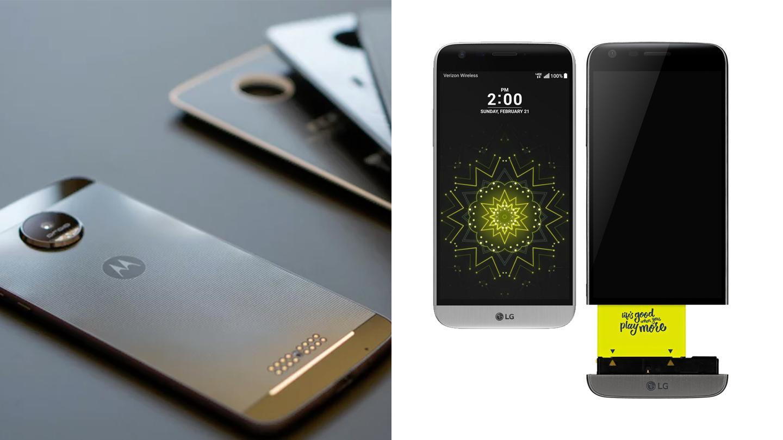 (L) Moto Z (R) LG G5