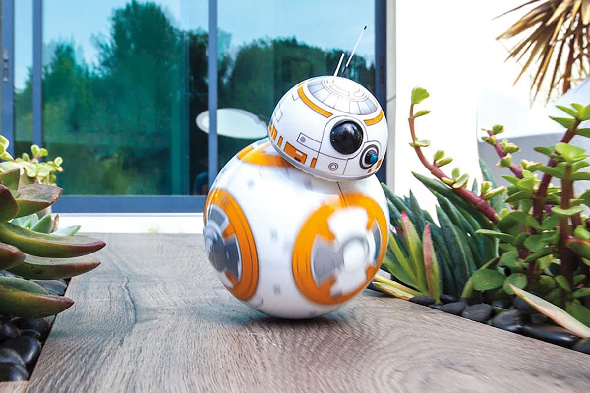 The Sphero BB-8 can patrol on its own or be driven manually