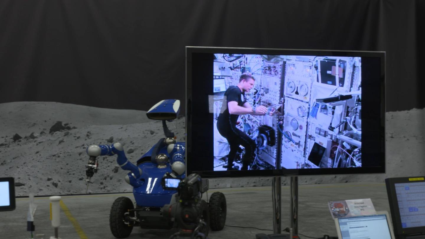 The signal to control the rover traveled an impressive 144,000 km between ESA's technical center in Noordwijk and the ISS