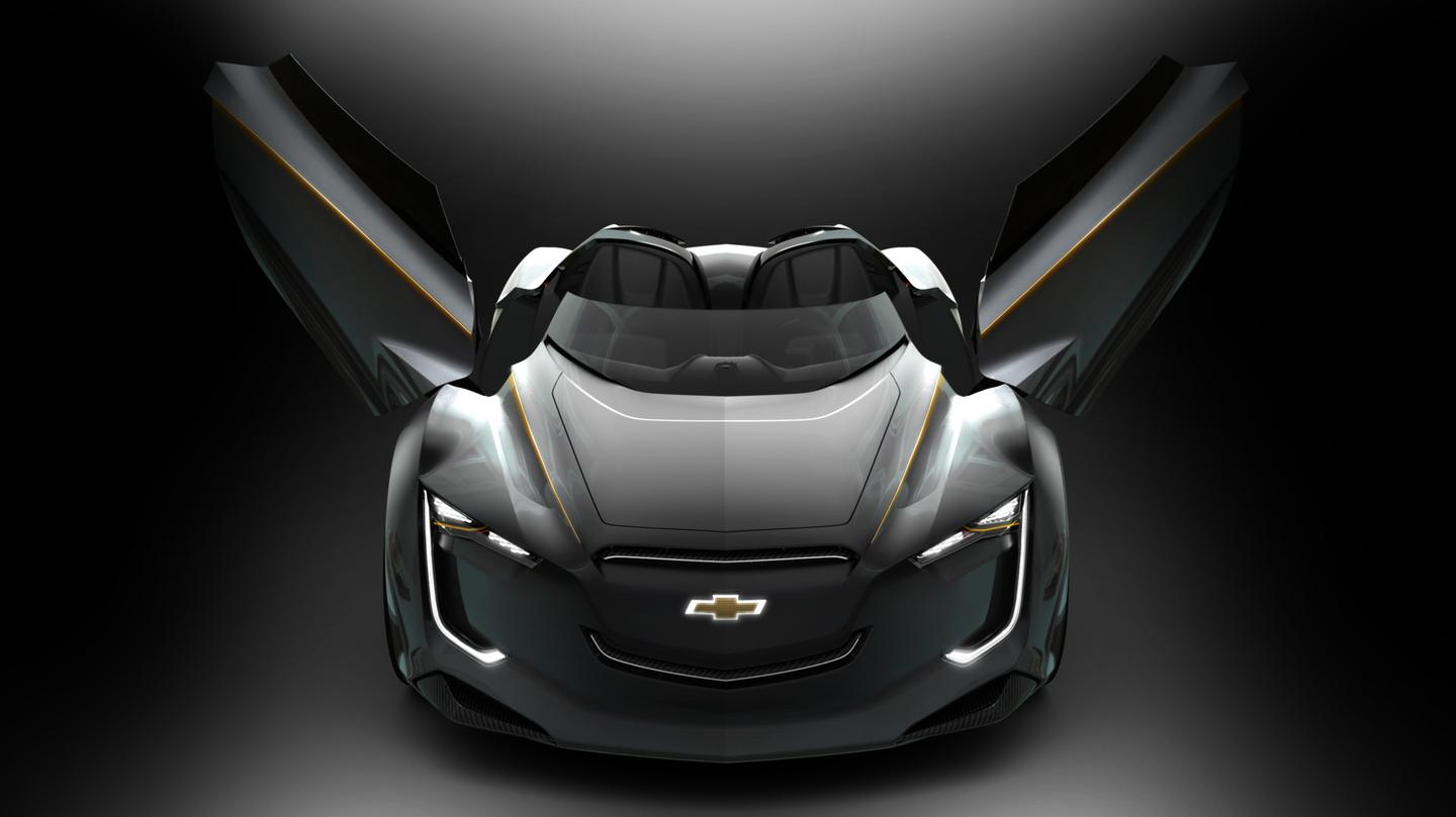 Chevrolet's Mi-ray roadster concept vehicle