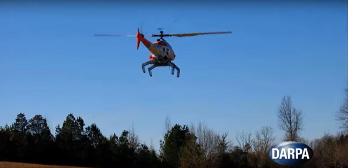 The robotic landing gear can be installed on an unmodified helicopter