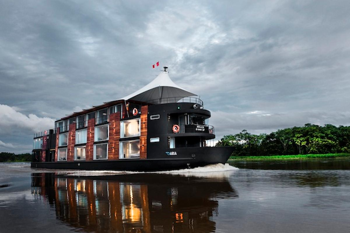 The M/V Aria, cruising the Amazon River in Peru