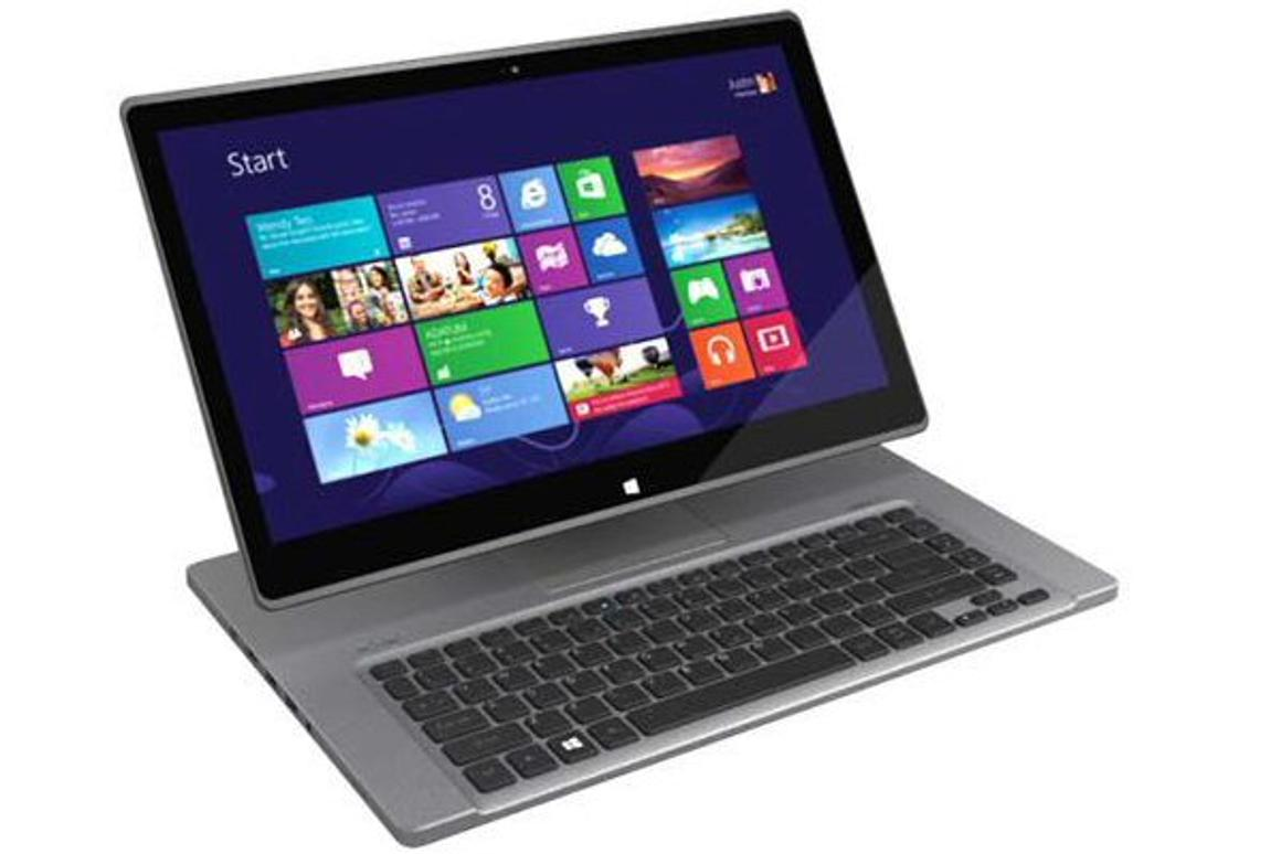 The Acer Aspire R7's screen is able to move close to the keyboard for easy touchscreen access