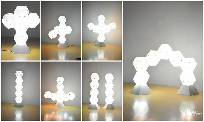 Dodecado is six colors of rearrangeable, stackable LED fun