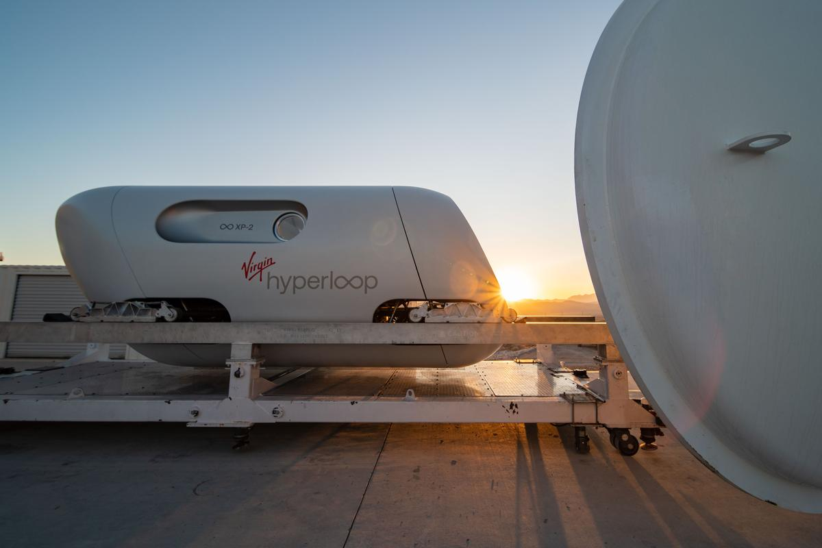 The capsule used for the hyperloop's first passenger tests is a new prototype called the XP-2, which had been adapted to comfortably carry two humans
