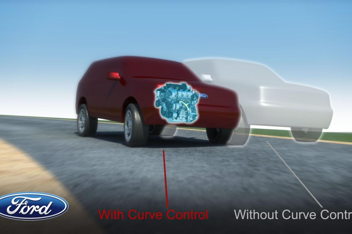 Ford's new Curve Control system automatically slows vehicles down when they're entering a curve too fast