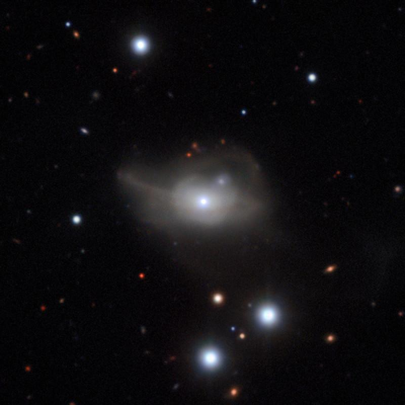 Image of Mrk 1018 captured by the MUSE instrument mounted on the ESO's Very Large Telescope (VLT)