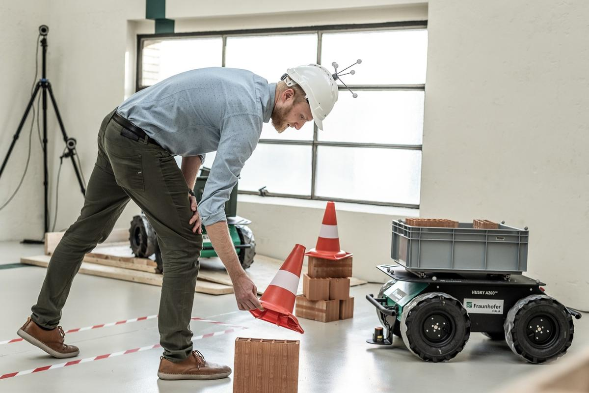 Trials of the mobile robot platform are being conducted on a mock construction site