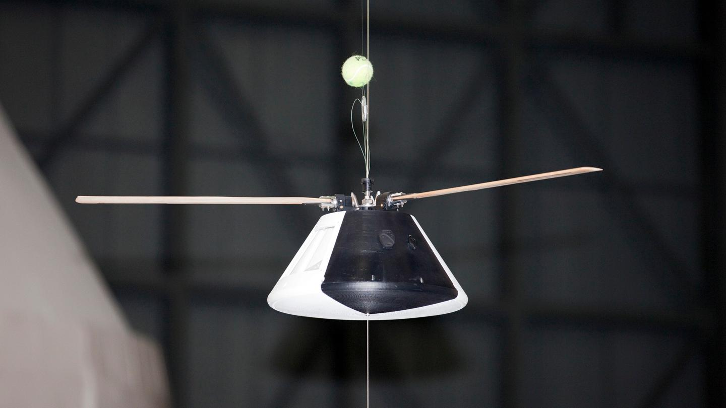 This model may help the researchers figure out how to use wind-powered propellors (Photo: NASA)