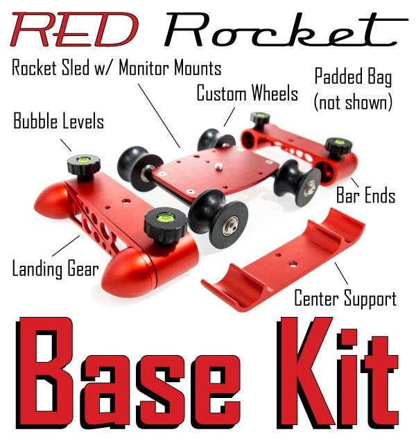 The components of the Red Rocket Base Kit