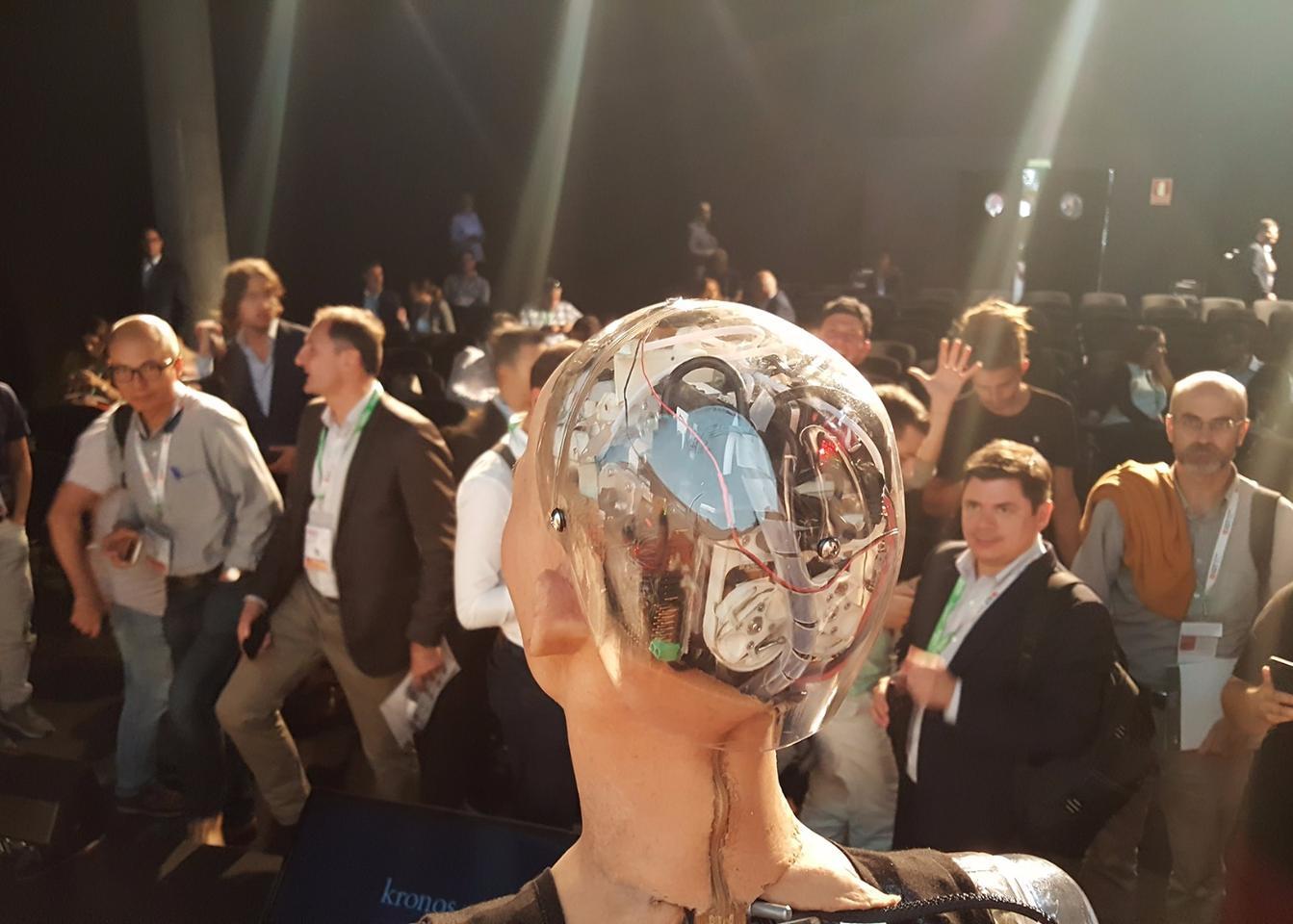 The Sophia robot runs on code created through SingularityNET