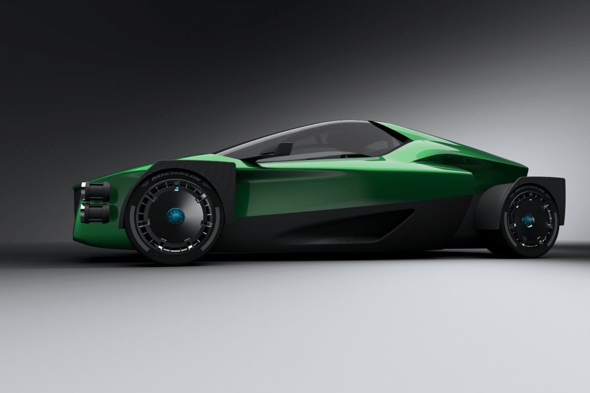 Xing Mobility's 1,000-kilowatt (1,341-hp) electric on-road/off-road supercar called the Miss R