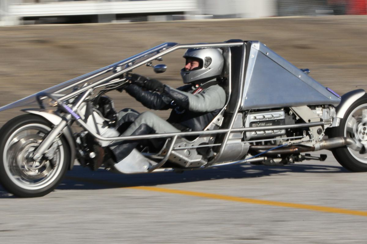 The Suprine Exodus recumbent motorcycle