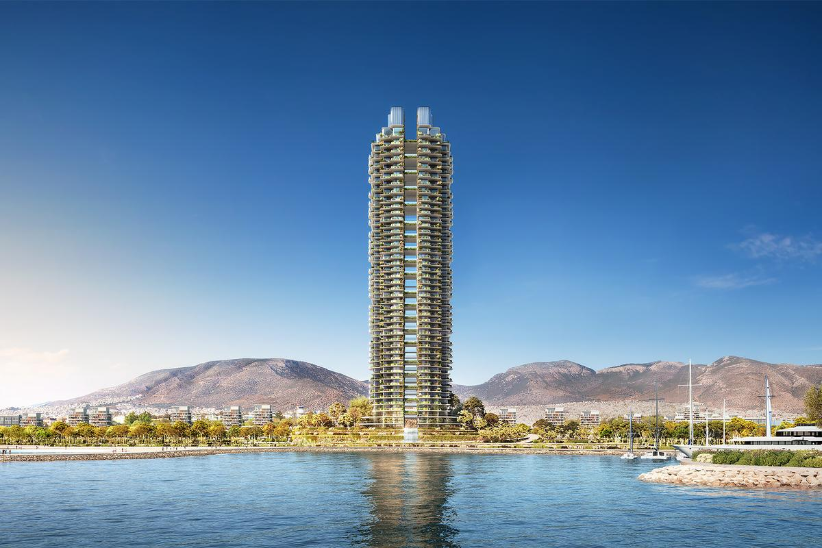Marina Tower will reach a height of 200 m (656 ft), making it Greece's tallest tower