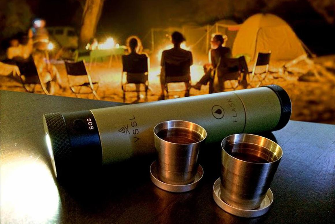 The VSSL Flask hides your favorite tipple inside what appears to onlookers to be a simple flashlight