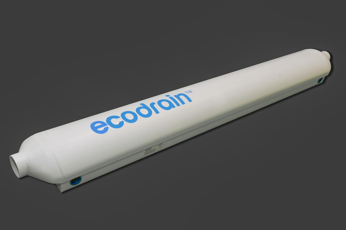 The EcoDrain uses outgoing hot water to heat incoming cold water