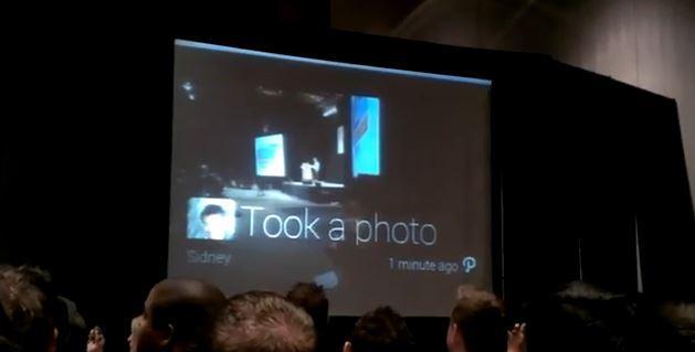 Google Glass demo at SXSW