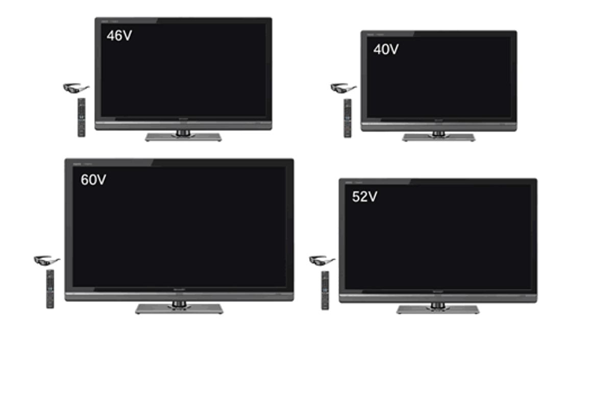 LV Series of 3D-compatible AQUOS Quattron LCD TVs