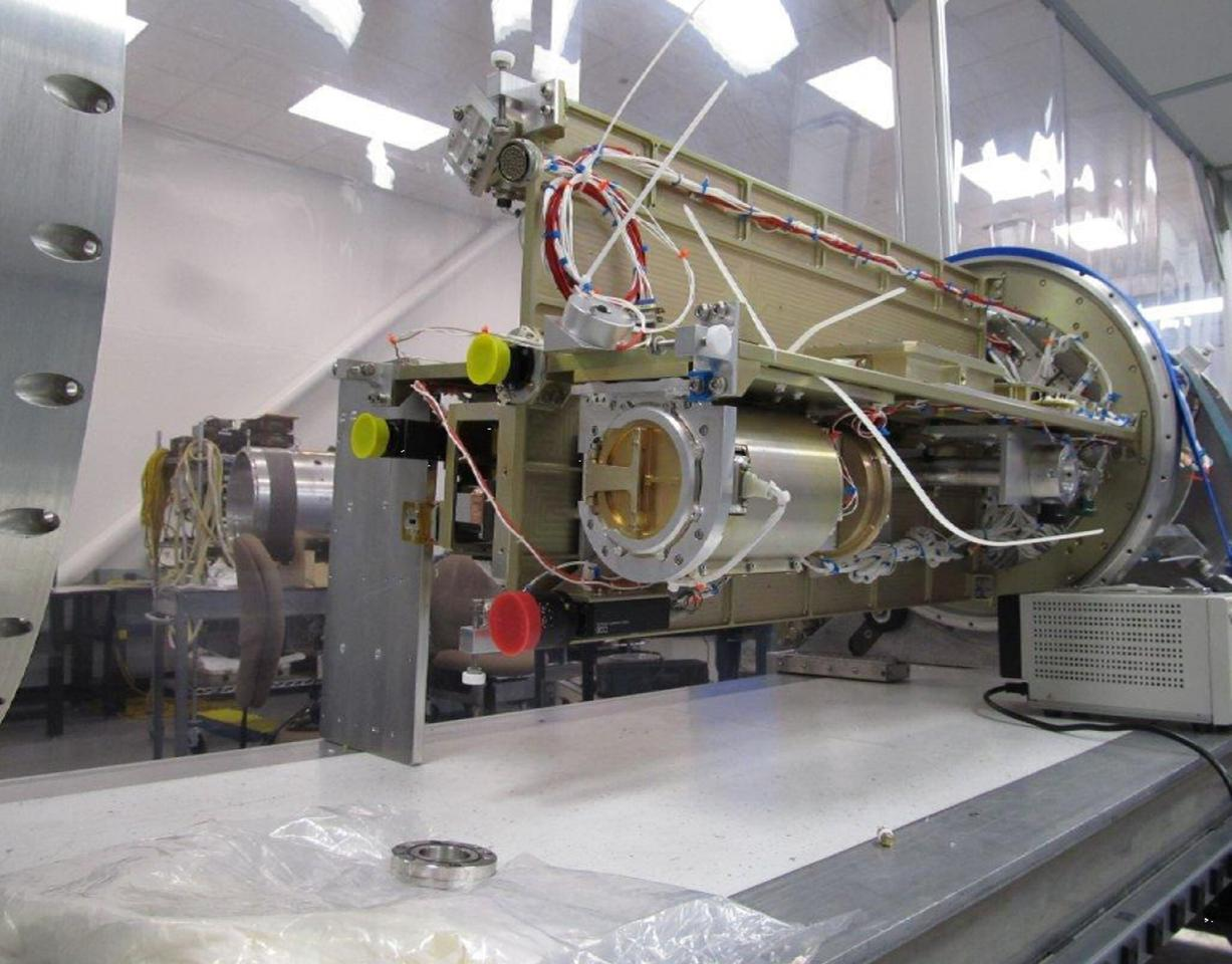 Partial interior assembly of Degradation Free Spectrometers sounding rocket (Photo: University of Southern California)