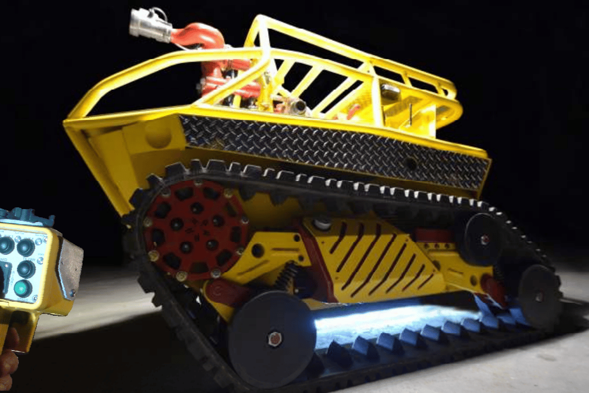 The RS1-T2 Thermite firefighting robot