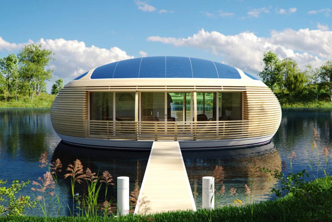 Giancarlo Zema has designed an eco-friendly floating home (Image: Giancarlo Zema Design Group)