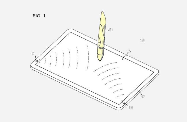 Apple's optical stylus could make its way to the next generation of iPad (Image: www.patentlyapple.com)