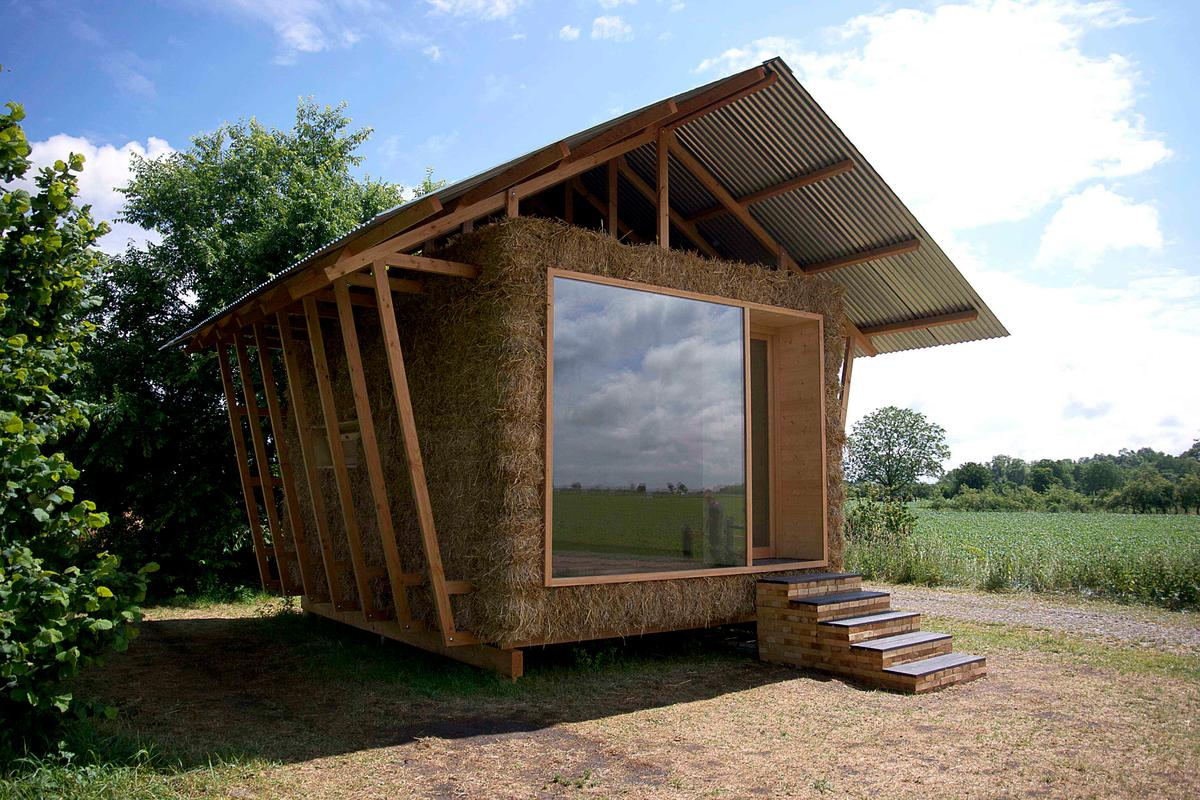 "Designed by a group of young French architects from Studio 1984, the ""Nest"" is a compact home concept that is reminiscent of a traditional barn"
