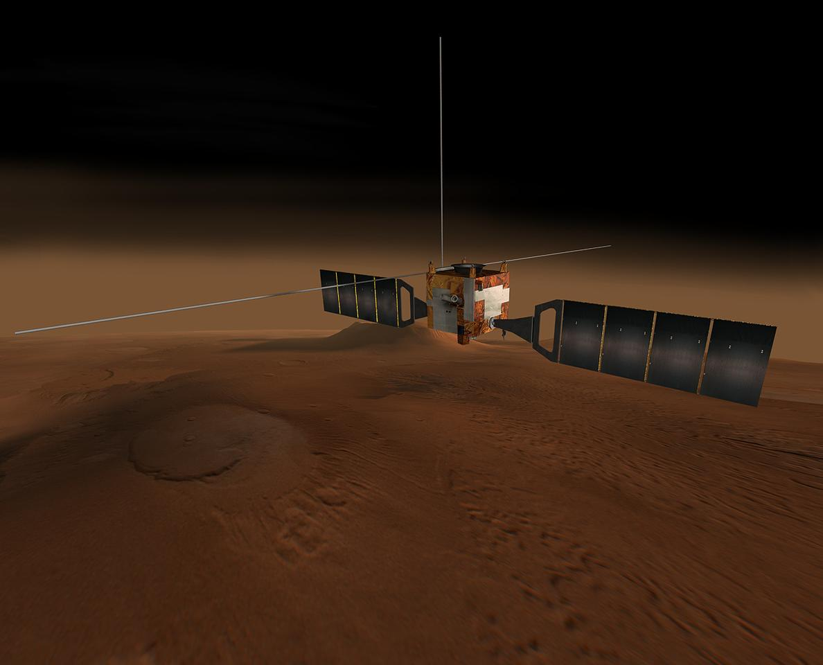 Artist's concept of Mars Express (Image: NASA)