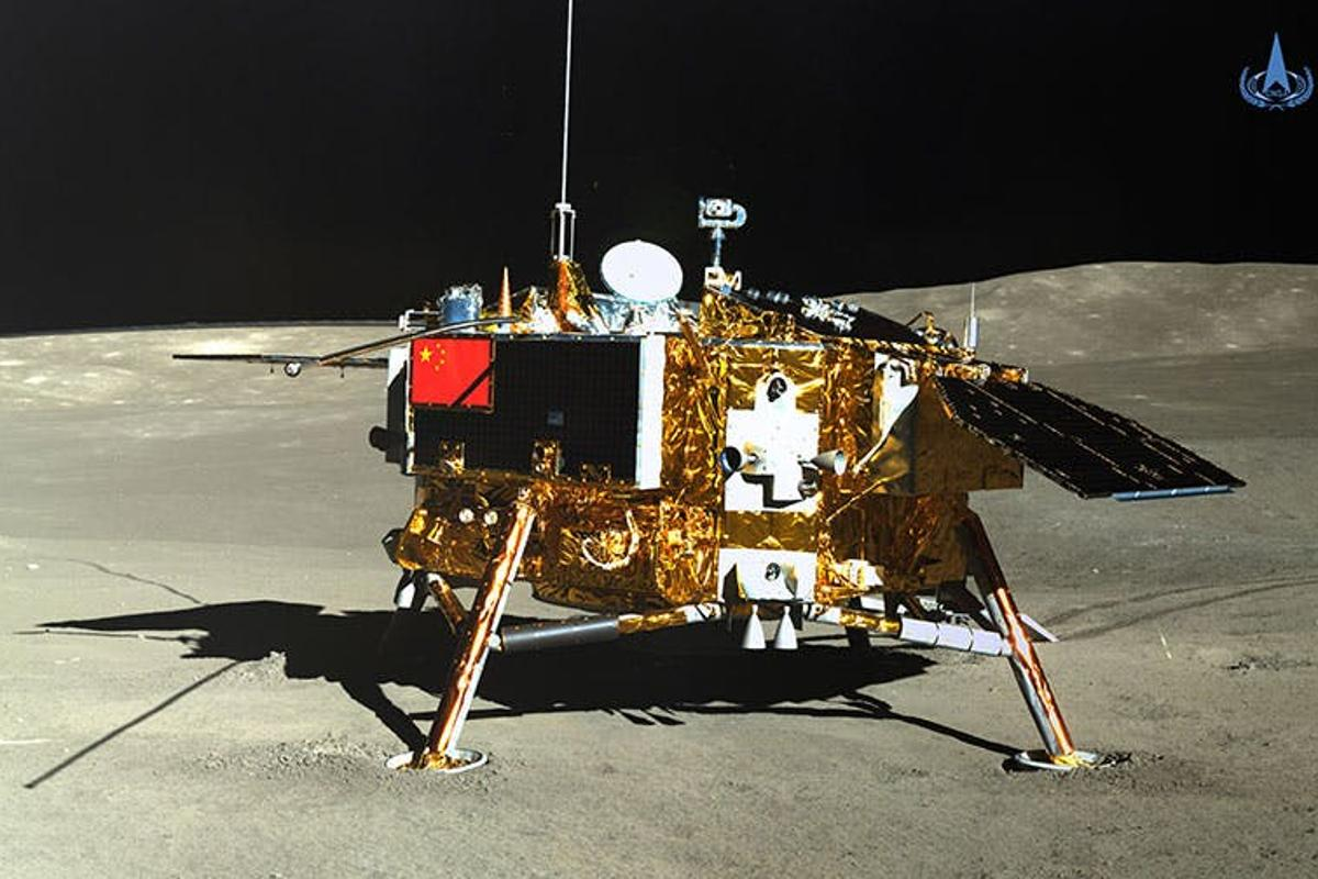 The Chang'e-4 lander, as seen by the Yutu 2 rover