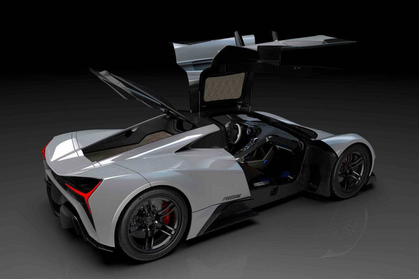 The gull-winged Elation Freedom electric hypercar makes up to 1,903 horsepower, and that's quite a decent amount