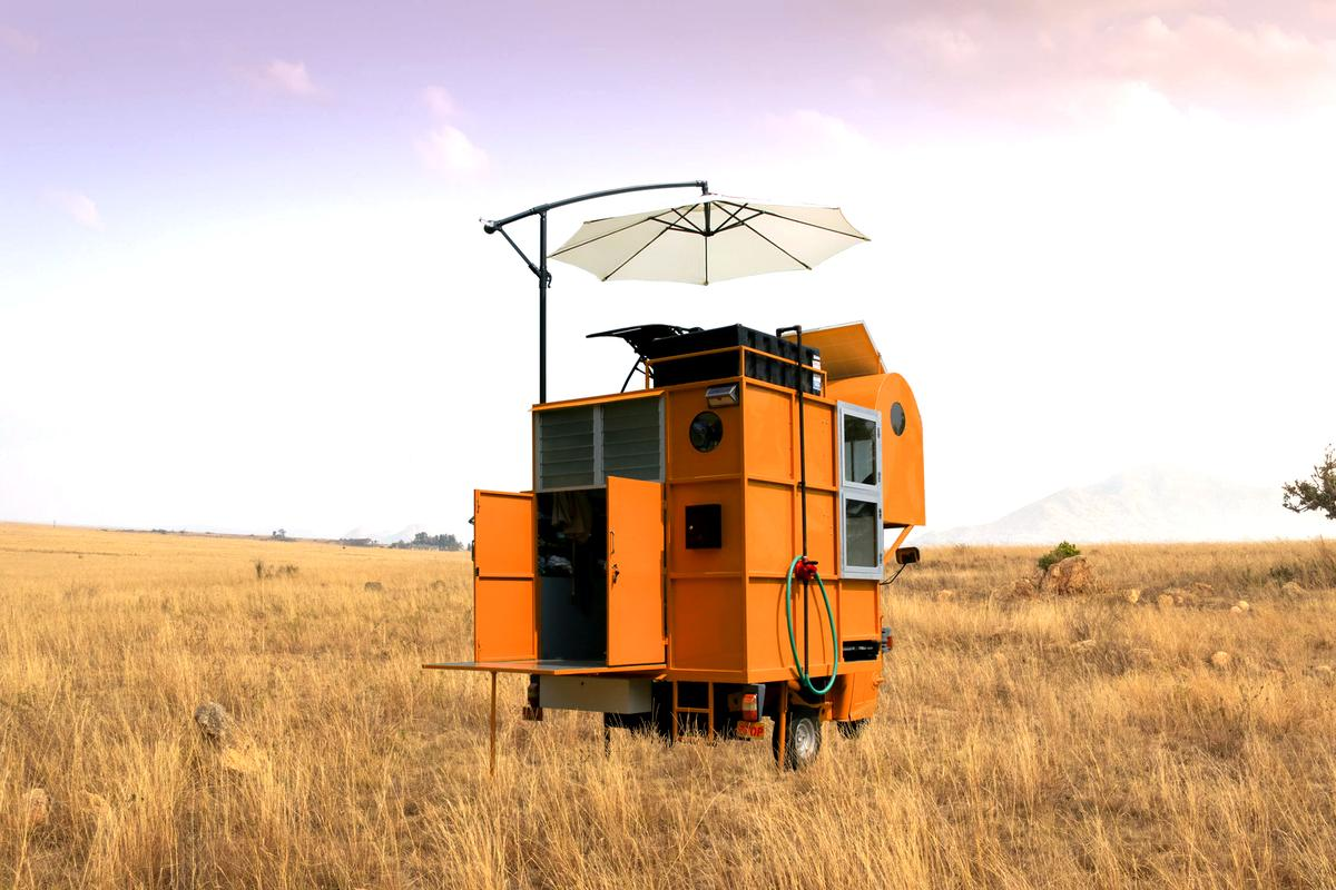 The Solo 01 was constructed using old scrap metal from old bus bodies and demolished buildings