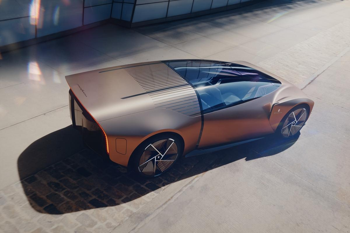 The Pininfarina Teorema appears ready to fire out a barrel