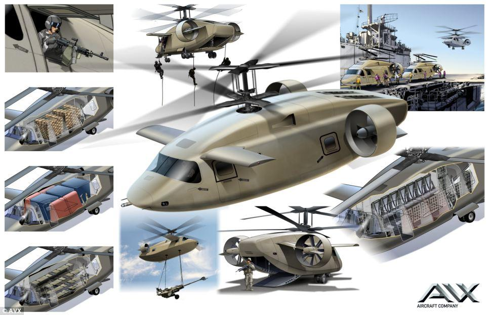 The AVX is a multi-use coaxial helicopter