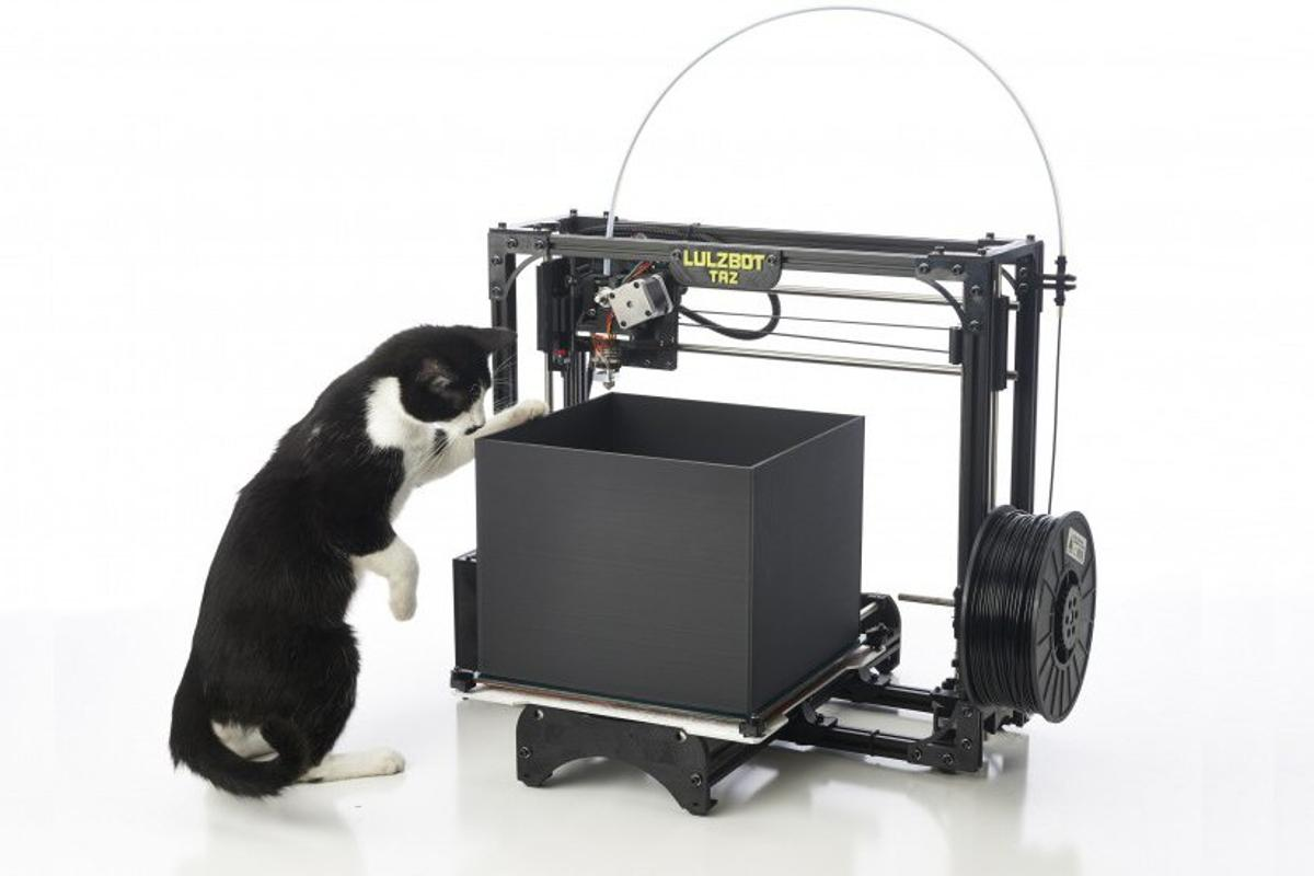 The recently released LulzBot TAZ 3D printer has the largest print volume for 3D printers under $5,000, according to its developers