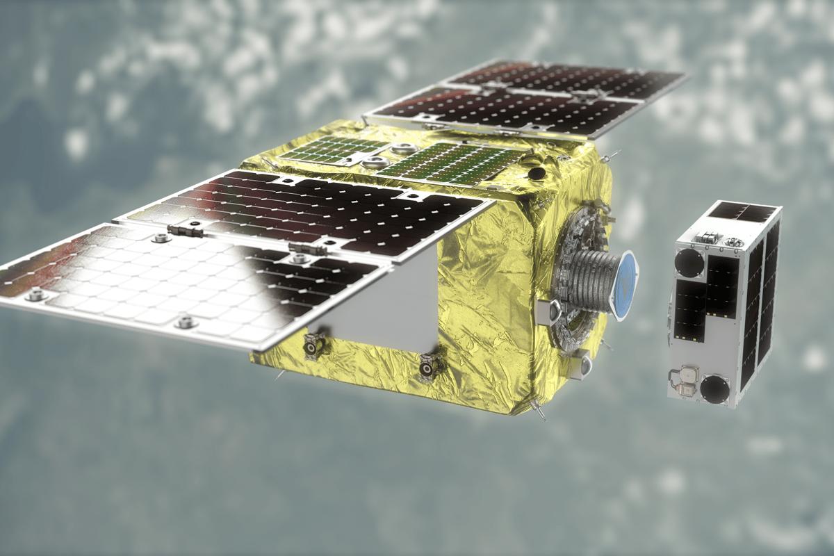 ELSA-d's magnetic capture mechanism includes a servicer and client module