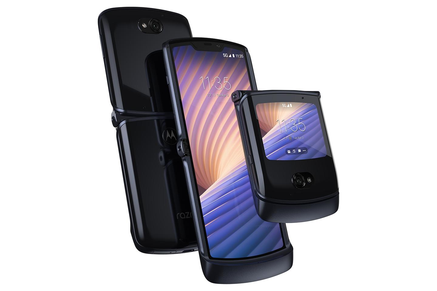 The Motorola Razr offers a new twist on a retro form factor