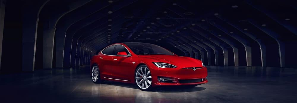 Revealed in April, the refreshed Model S has a grille-free face
