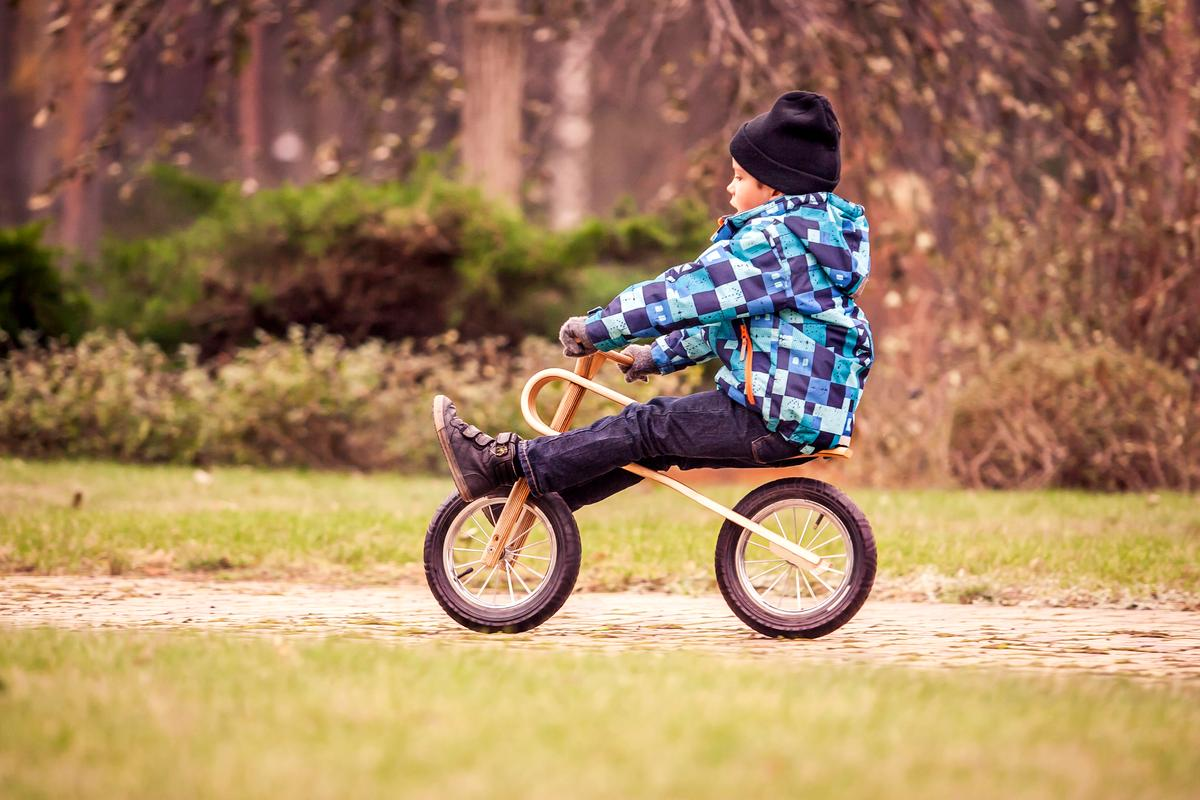The ZumZum balance bike assists children in learning bike balance and handling