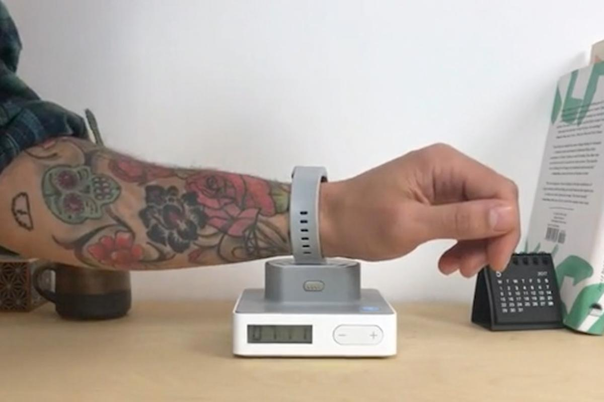The AlarmShock will zap you if you snooze your alarm in the morning