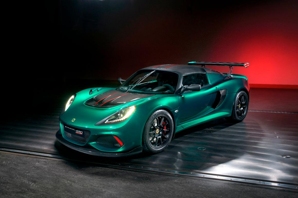TheExige Cup 430 Unlimited Editiongets the 3.5-liter supercharged and charge-cooledengine from theEvora GT430