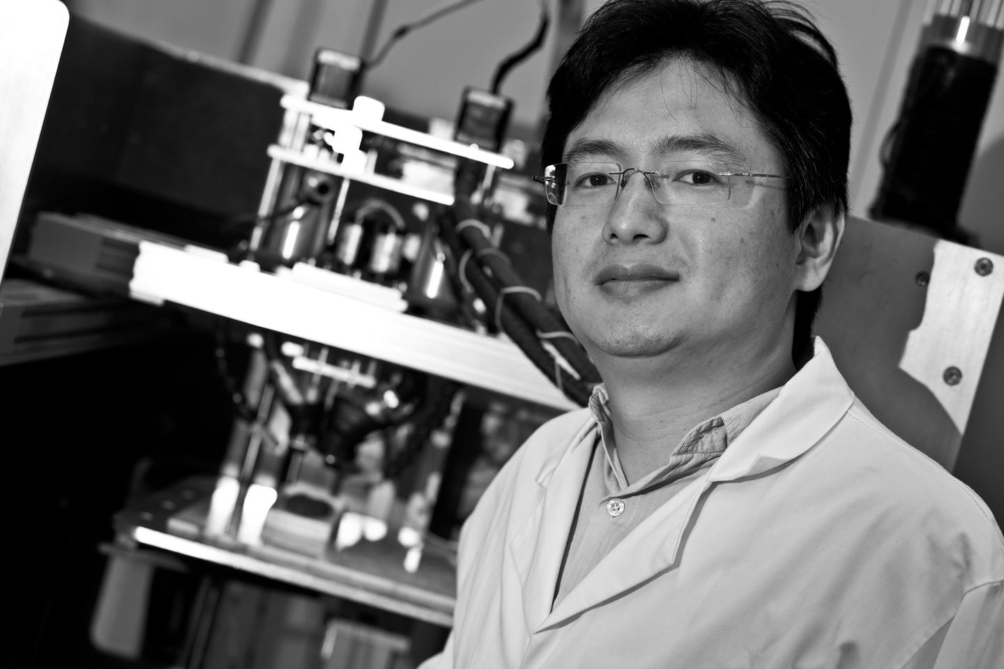 The University of Exeter's Dr. Liang Hao, lead researcher on the 3D chocolate printer project (Photo: EPSRC)