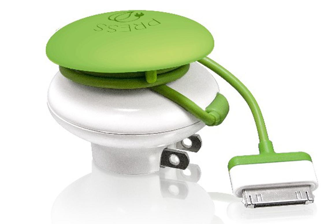 The Mushroom charger from Bracktron eliminates vampire power when charging mobile devices